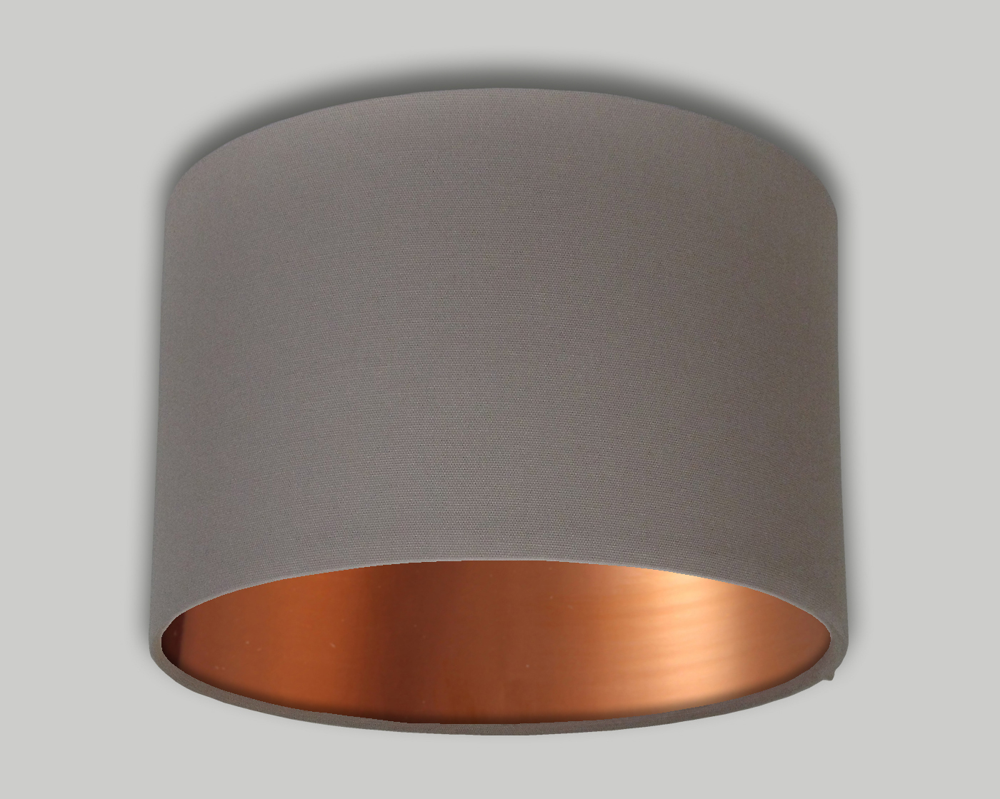 dark beige drum lampshade brushed copper inner the