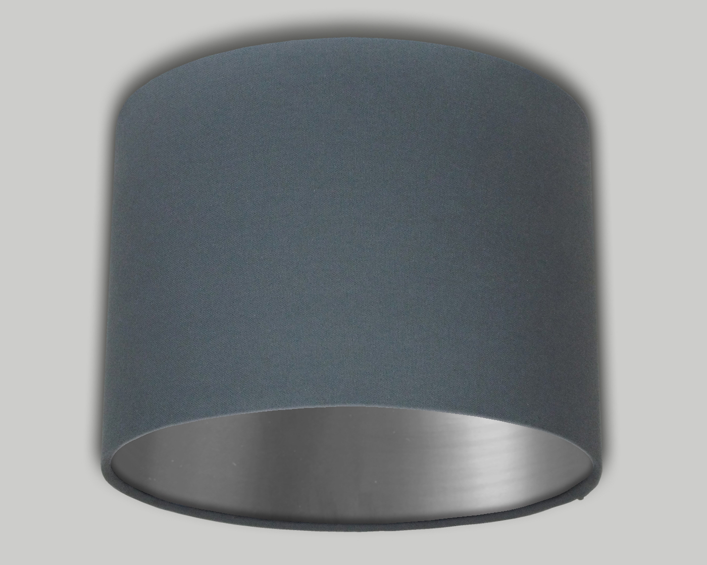 Dark grey drum lampshade brushed silver inner the lampshade barn dark grey drum lampshade brushed silver inner aloadofball Image collections