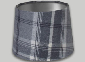 Balmoral Dove Grey French Drum Lampshade Brushed Silver Inner