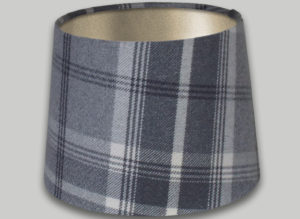 Balmoral Dove Grey French Drum Lampshade Champagne Inner