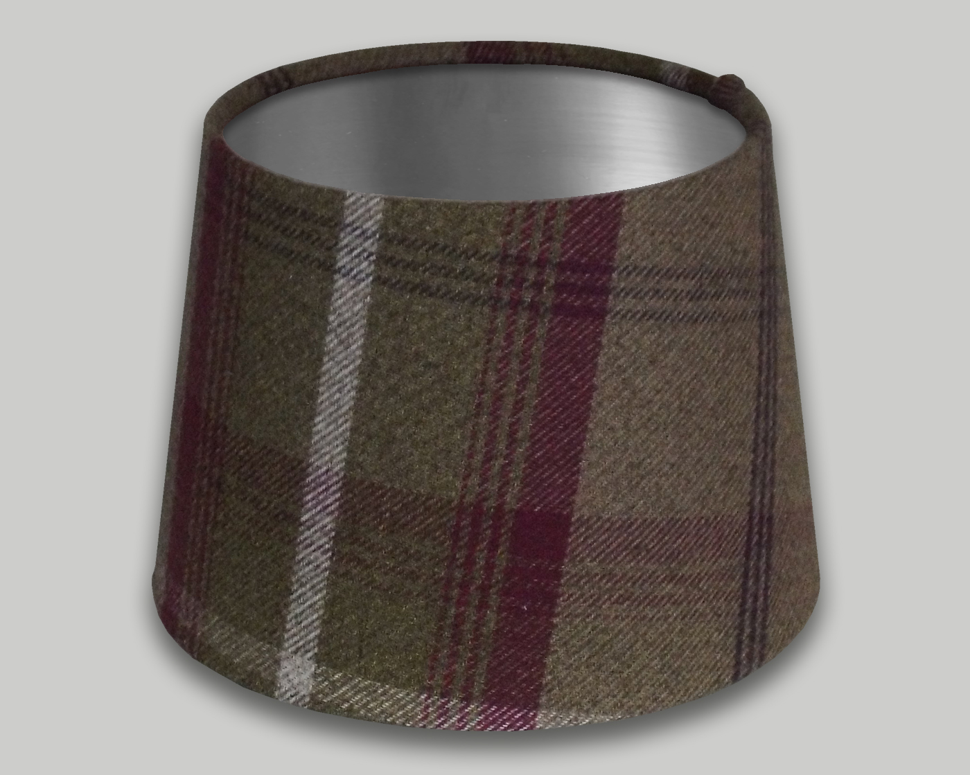 Balmoral Heather French Drum Lampshade Brushed Silver Inner