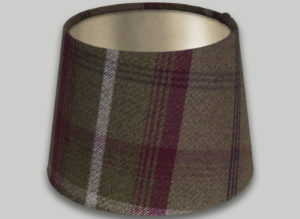 Balmoral Heather French Drum Lampshade Champagne Inner