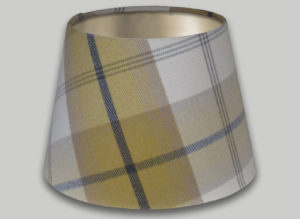 Balmoral Ochre Yellow Grey Empire Lampshade Champagne Inner