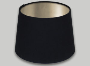 Black French Drum Lampshade Champagne Inner