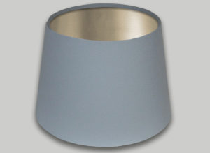 Light Grey French Drum Lampshade Champagne Inner