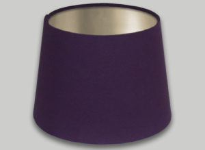 Purple French Drum Lampshade Champagne Inner
