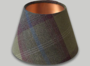 Balmoral Pistachio Empire Lampshade Brushed Copper Inner