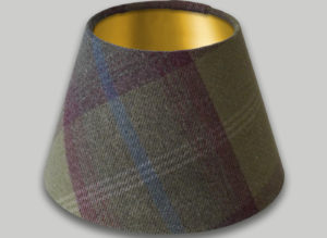 Balmoral Pistachio Empire Lampshade Brushed Gold Inner