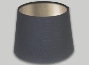 Dark Grey French Drum Lampshade Champagne Inner