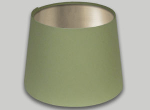 Green French Drum Lampshade Champagne Inner