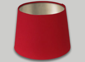 Red French Drum Lampshade Champagne Inner