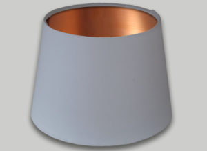 White French Drum Lampshade Brushed Copper Inner