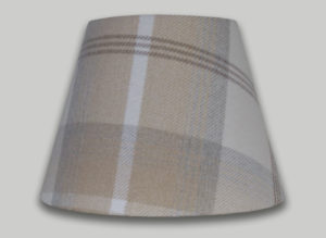 Balmoral Natural Cream Beige Tartan Empire Lampshade