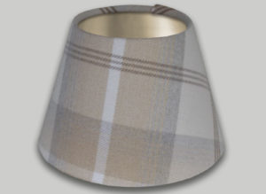 Balmoral Natural Cream Beige Empire Lampshade Brushed Champagne Inner