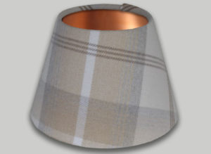 Balmoral Natural Cream Beige Empire Lampshade Brushed Copper Inner
