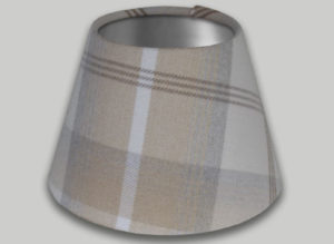Balmoral Natural Cream Beige Empire Lampshade Brushed Silver Inner
