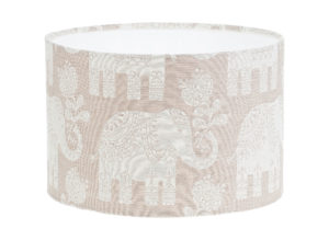 Amy Elephant Beige Cream Drum Lampshade