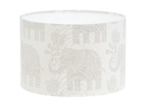 Amy Elephant Cream Beige Drum Lampshade