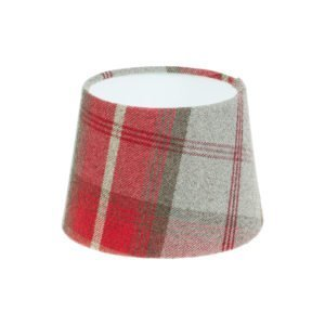 Balmoral Cherry Tartan French Drum Lampshade