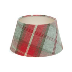Balmoral Cherry Tartan Empire Lampshade Champagne Inner
