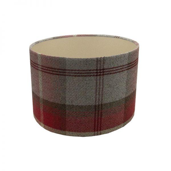 Balmoral Cherry Tartan Drum Lampshade