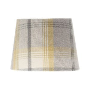 Balmoral Citrus Tartan French Drum Lampshade