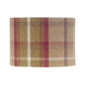 Balmoral Heather Tartan Drum Lampshade