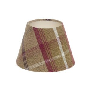 Balmoral Heather Tartan Empire Lampshade Champagne Inner