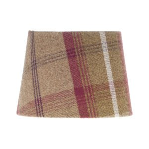 Balmoral Heather Tartan French Drum Lampshade