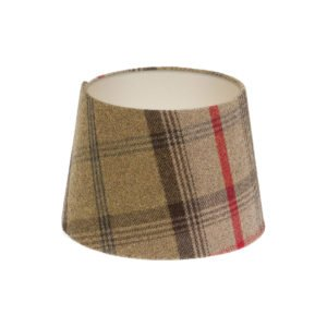Balmoral Hunter Tartan French Drum Lampshade Champagne Inner
