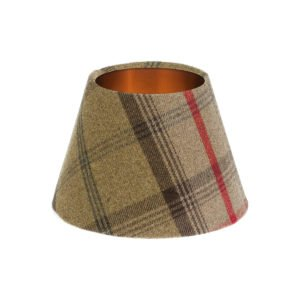 Balmoral Hunter Tartan Empire Lampshade Brushed Copper Inner