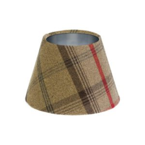 Balmoral Hunter Tartan Empire Lampshade Brushed Silver Inner