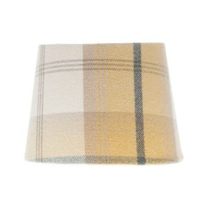 Balmoral Ochre Tartan French Drum Lampshade