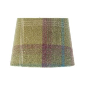 Balmoral Pistachio Tartan French Drum Lampshade