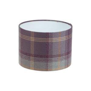 Balmoral Lavender Tartan Drum Lampshade