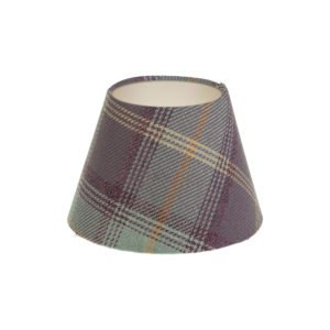 Balmoral Lavender Tartan Empire Lampshade Champagne Inner