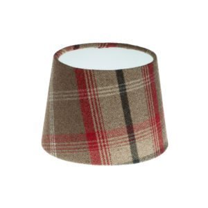 Balmoral Rosso Tartan French Drum Lampshade