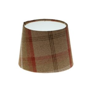 Balmoral Rust Tartan French Drum Lampshade