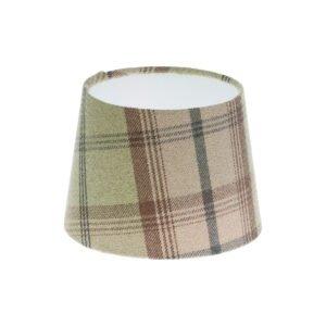 Balmoral Sage Tartan French Drum Lampshade