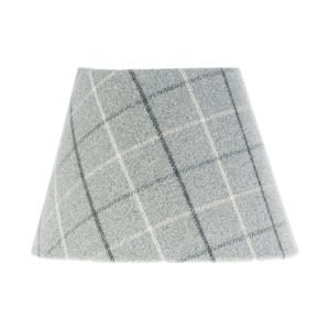 Bamburgh Dove Grey Tartan Empire Lampshade