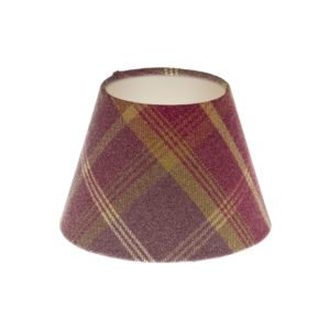 Balmoral Amethyst Tartan Empire Lampshade Champagne Inner