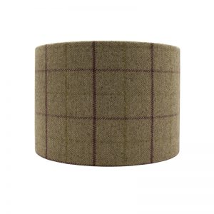 Bamburgh Heather Tartan Drum Lampshade