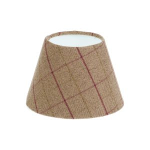Bamburgh Heather Tartan Empire Lampshade