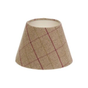 Bamburgh Heather Tartan Empire Lampshade Champagne Inner
