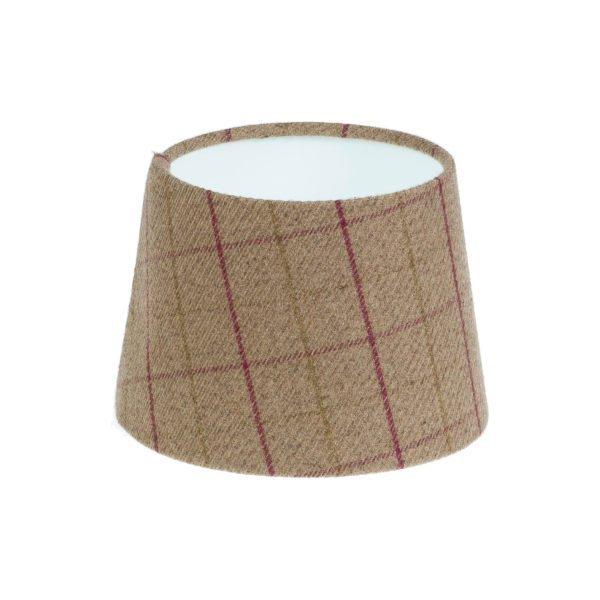 Bamburgh Heather Tartan French Drum Lampshade