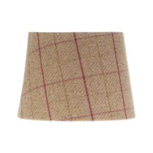 Bamburgh Heather Tartan French Drum Lampshade