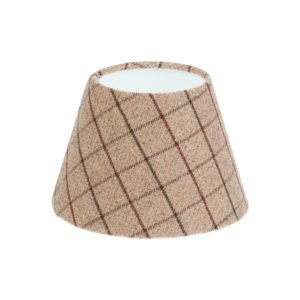 Bamburgh Mulberry Tartan Empire Lampshade