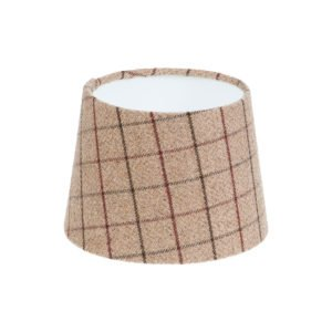 Bamburgh Mulberry Tartan French Drum Lampshade