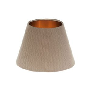 Dark Beige Empire Lampshade Brushed Copper Inner