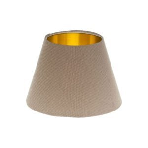 Dark Beige Empire Lampshade Brushed Gold Inner